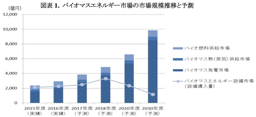 自然エネルギー:設備需要は頭打ちも、国内バイオマス市場は30年までに倍増 (2/2)