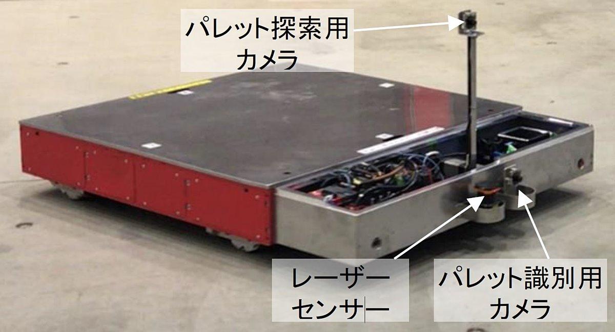 """エレベーターを呼び出して乗り降りする建材の""""自動搬送ロボット""""、2019年に実証実験"""