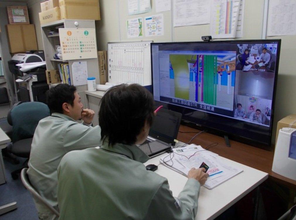 CADオペ・事務員を共有し相互支援する「リモートチーム」結成、3次元CADとWeb会議で若手の現場管理を実現