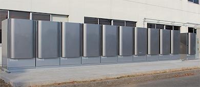 熊谷SSCに設置された燃料電池発電システム
