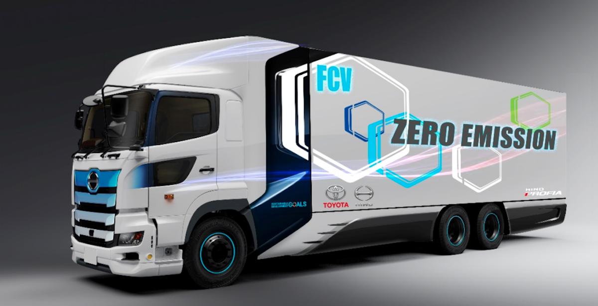 水素で600km走る大型トラック、トヨタと日野が共同開発へ