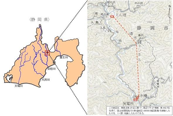 発電所概略位置図