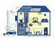 非常時に太陽光の電力を活用可能に、住宅用の電力供給システムを量産化