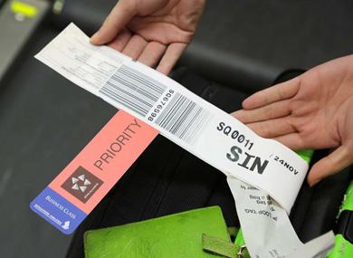 シンガポール 航空 預け 荷物