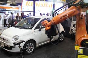 「産業用ロボットアーム」のイメージ(「第26回 設計・製造ソリューション展」で披露されたニコンのデモより)