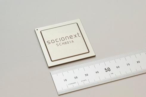 8K映像のデコードを1チップで処理可能なLSI「SCH801A」 出典:ソシオネクスト