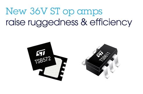 36V耐圧オペアンプ「TSB572」「TSB611」