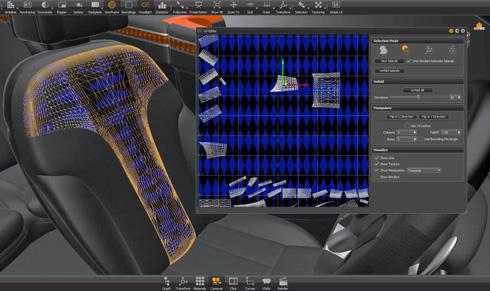 「Autodesk VRED」に搭載されたUV展開の例
