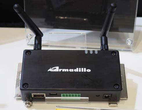「第5回 IoT/M2M展」に出展したアットマークテクノのブースで展示されていた「Armadillo-IoTゲートウェイG3L」