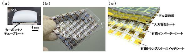 生体適合性を持つ柔らかいシート型生体信号増幅回路