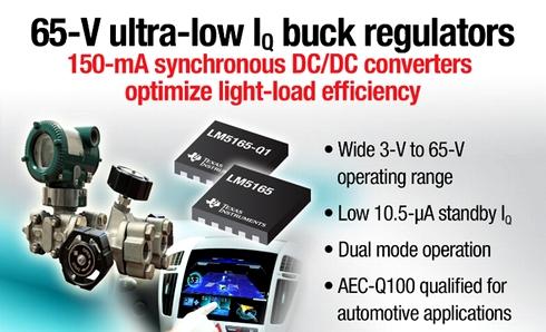 DC-DC同期整流降圧型コンバーター「LM5165」「LM5165-Q1」