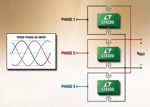 3相理想ダイオードブリッジ整流器「DC2465」