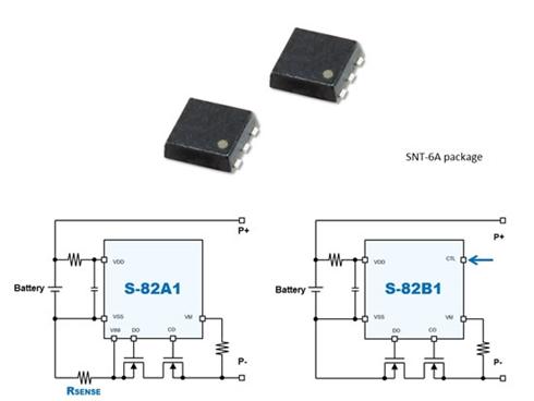 リチウムイオンバッテリー保護IC「S-82A1」「S-82B1」シリーズ