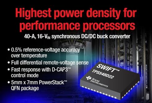 同期整流降圧型DC-DCコンバーター「TPS548D22」
