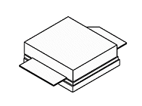 GaN RFパワートランジスタ「A2G22S251-01S」NI-400S-2Sパッケージのイメージ