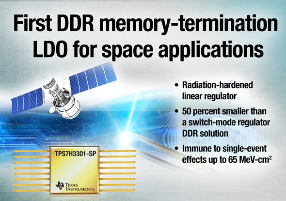 DDRメモリ用終端リニアレギュレーター「TPS7H3301-SP」