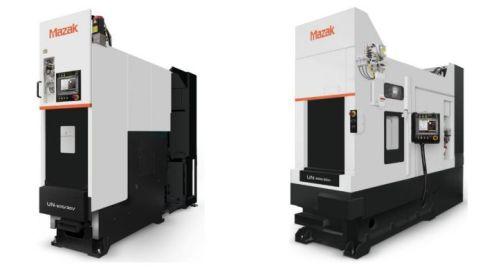 (左)立型マシニングセンタ「UN-600/30V」/(右)横型マシニングセンタ「UN-600/30H」
