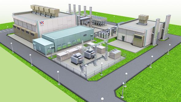 図2 「清原工業団地エネルギーセンター」の完成イメージ 出典:東京ガス