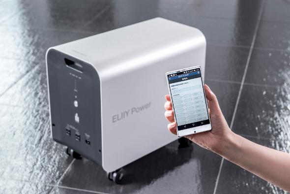 パワーイレ・スリーとスマートフォンによるエリークラウドのイメージ
