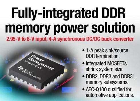 同期整流DC-DC降圧型コンバーター「TPS54116-Q1」
