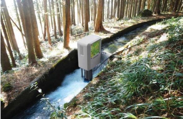 開発した小水力発電機 出典:協和コンサルタンツ