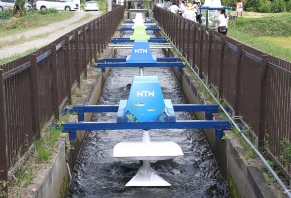 図3 NTNの小水力発電機
