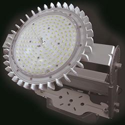 「REALPOWER ソレイユ」の外観 投光器として用いる金具と組み合わせた場合を示した 出典:OPTILED LIGHTING