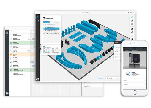 GrabCAD Printソフトウェアのスクリーンイメージ