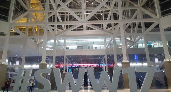 「SOLIDWORKS World 2017」の会場正面