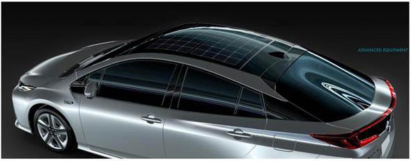 トヨタ自動車「新型プリウスPHV」のソーラー充電システムに採用されたパナソニックの車載向け太陽電池モジュール「HIT 車載タイプ」