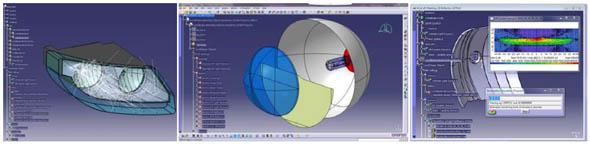 「LucidShape CATIA CAA V5 Based」の光学シミュレーション