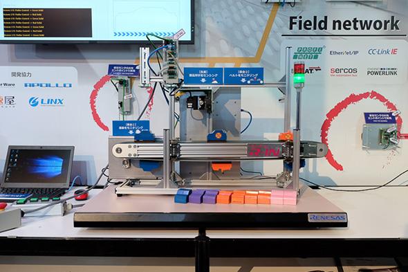 ルネサス エレクトロニクスがプライベート展で紹介した、産業機器へのAI後付け実装デモンストレーション