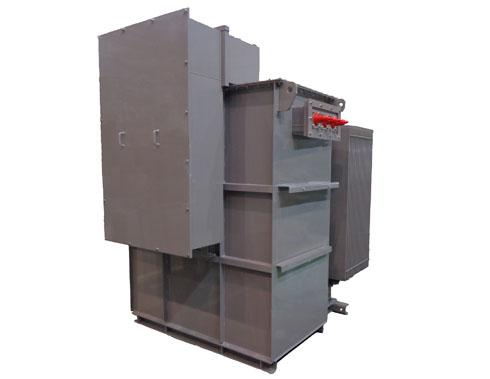 多巻線変圧器の外観(出典:日立産機システム)