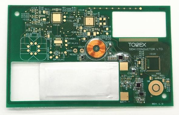 スマートカードの内部基板 出典:トレックス