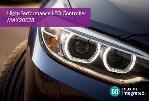 高輝度LEDコントローラー「MAX20078」のイメージ