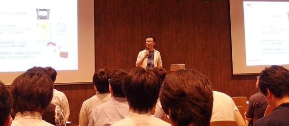 テクノブレーン主催の「人工知能とビジネスとソフトウェア開発 〜データの有効活用と具体的事例〜」セミナーに登壇したデンソー 技術企画部 担当部長/デンソーアイティーラボラトリ CTOの岩崎弘利氏