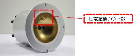 球面状の超音波センサーモジュールのモックアップ