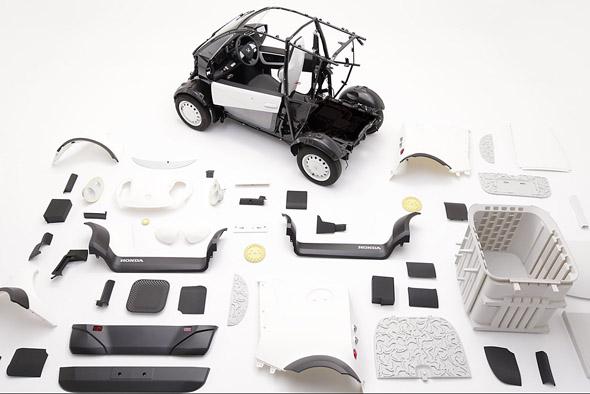 「MC-β」のベース構造以外のパーツを3Dプリンタで製作(画像提供:カブク)