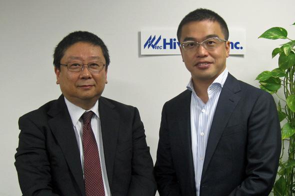 ハイバーテック 代表取締役社長 伊東健氏(左)と筆者