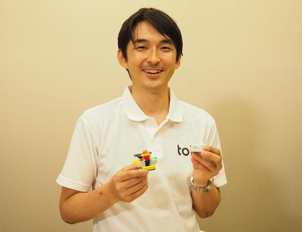 toioプロジェクトのリーダーを務めるソニー 新規事業創出部 TA 事業準備室 統括課長の田中章愛氏