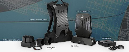 「HP Z VR Backpack」のパッケージ