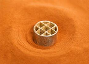 純銅の積層造形のサンプル
