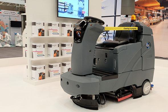 ソフトバンクロボティクスが2018年夏の販売開始を発表した、自律型の業務用清掃ロボット