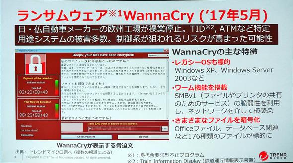 ランサムウェア「WannaCry」について