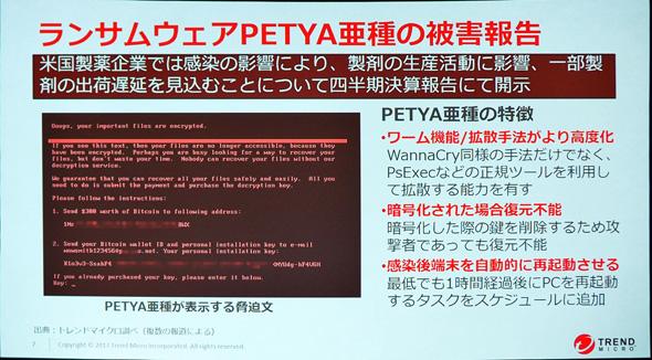 ランサムウェア「PETYA亜種」の被害報告について