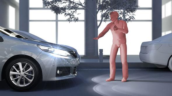 センサーの性能向上により、検知対象を夜間の歩行者や自転車に拡大した(クリックして拡大) 出典:トヨタ自動車