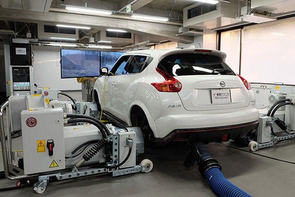 東陽テクニカのシャシーテスト「DMTS(Driving & Motion Test System)」