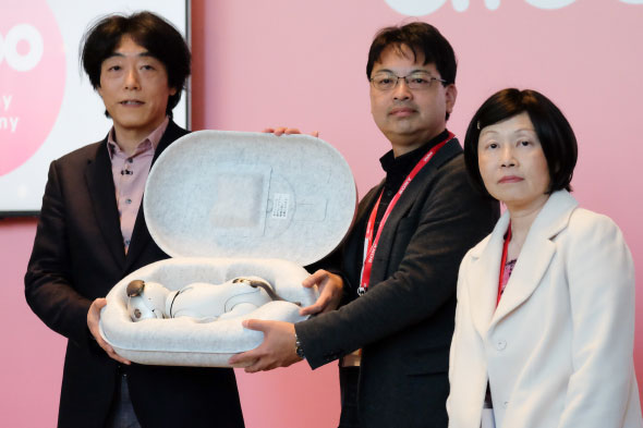 2018年1月11日に行われたaibo(ERS-1000)のお渡し会