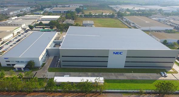 NECプラットフォームズタイの新工場外観(出典:NECプラットフォームズ)
