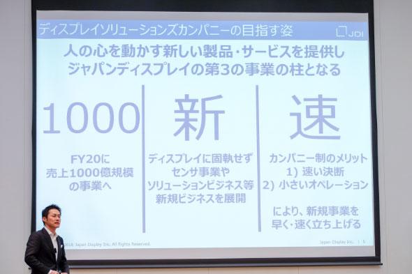 「ディスプレイソリューションズカンパニー」を率いる執行役員の湯田克久氏が示したビジョン